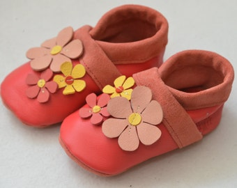Floral, kids slippers, baby shoes, baby shoes, House shoes, children's shoes