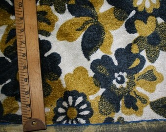 Navy + Yellow Vintage Floral Upholstery