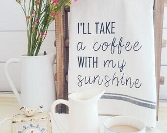 I'll take a coffee with my sunshine dishtowel