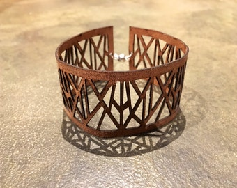 Womens Leather Cuff - Genuine Leather