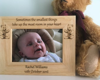 Baby Photo Frame, New Born Baby Gift, Personalised Photo frame