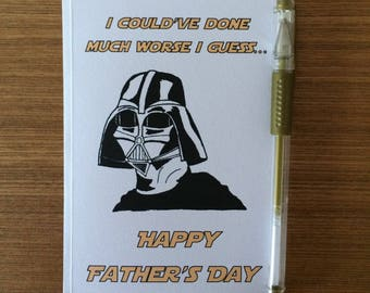 Darth Vadar Star Wars Father's Day Greetings Card - Funny Geeky Film reference