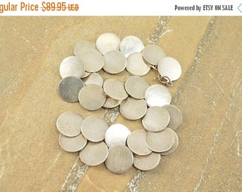 On Sale Round Circle Link Necklace Sterling Silver 28.6g
