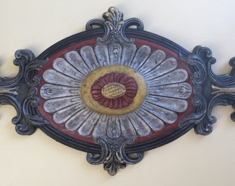 Hand-painted and gold leafed Wall Medallion ***FREE SHIPPING to US lower 48 States***