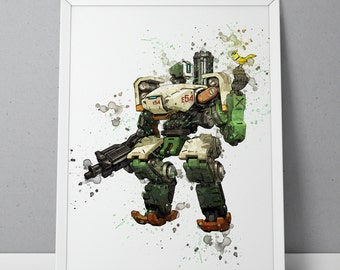 Overwatch print, Bastion print, Overwatch poster, Bastion poster, game poster, Blizzard N.002
