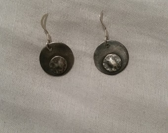 925 silver circle in a circle earings