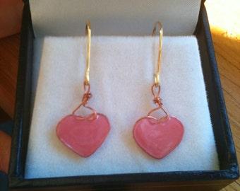 Painted Sweetheart Earrings