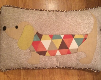 Large Weiner Dog Dachshund Pillow 26x16