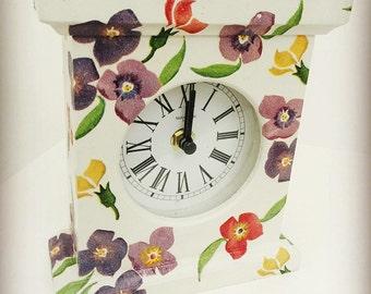 Handmade Emma Bridgewater Wallflower Mantle Clock