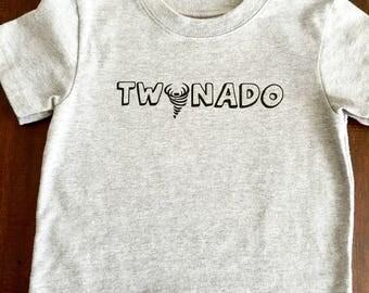 Twonado tshirt for two year old