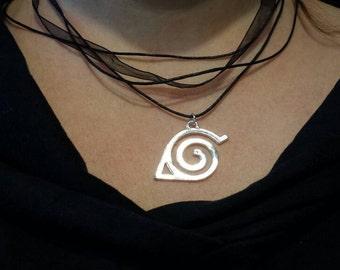 Naruto-inspired necklace Konoha leaf village