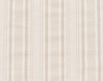 Bennison Plain Stripe Linen Fabric by the yard