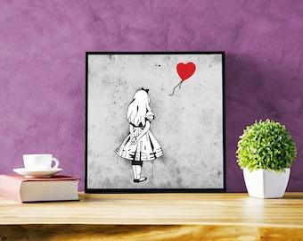 Banksy-Inspired Alice in Wonderland