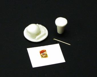 1:25 G scale model resin diner restaurant hamburger french fries meal
