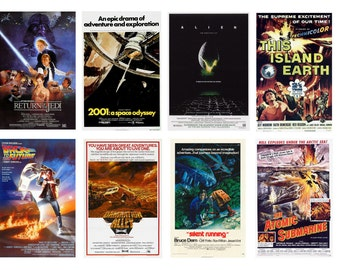 1:25 G scale model science fiction sci fi movie theater posters set 2