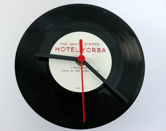 "White Stripes - Hotel Yorba 7"" record Clock"