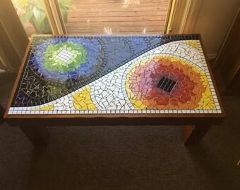 Hand made mosiac coffee table