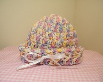 Baby knit beanie hat/crochet