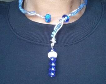 Blue Braided Choker