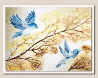 Original Watercolour. Birds