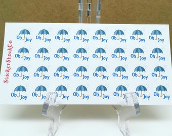 Umbrella Stickers, Weather Stickers, Rain Stickers, Cute Stickers, Reminder Stickers, Planner Stickers, Daily Stickers