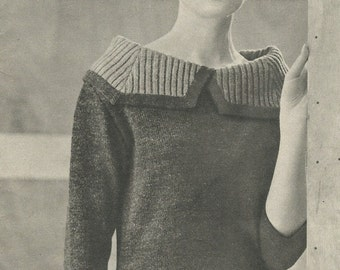 Andalousie Lady's Sweater Knitting Pattern Vintage Instant PDF Download