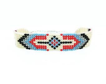 Bracelet boho Arizona spirit / / / woven in beads