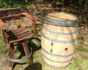 Wine Barrel Sommelier Chair