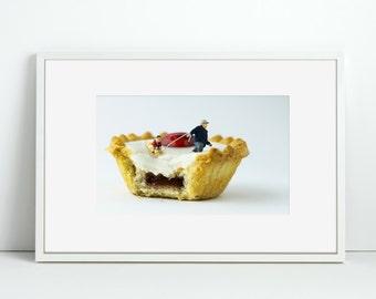 Cake Winter Fun - Bakewell Tart - Cherry on Top