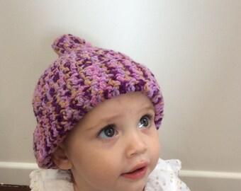 Crochet Beanie - Pink Gumnut