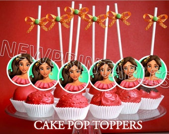 Elena Cake Pop toppers, Elena printables, Elena Cupcake Toppers, Instant Download, You print, 60% OFF