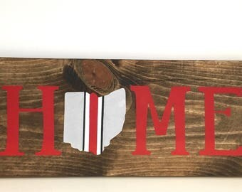 Ohio Home Sign, Ohio State Sign, Ohio Sign, Ohio Wood Sign