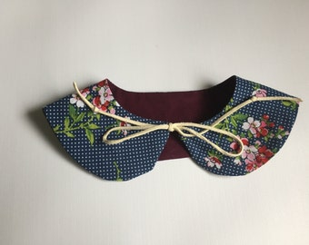 Detachable Peter Pan Collar  Floral collar  baby girl, girl clothes, plum