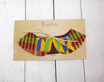 Kente, collar, deattachable collar, kids collar, african collar, toddler collar