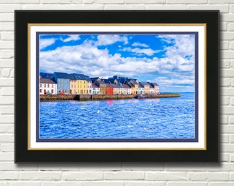 Galway On The Water Art Print - Colorful Irish Seaside Wall Art - The Enchanting West Coast Of Ireland - Great Irish Gifts