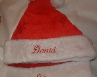 Personalized Adult Santa Hat Custom