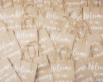 Thank You Gift Bag, Kraft Paper Bag, Wedding Favors Bag, Wedding Shower Bag, Custom Bag, Kraft Bag, Welcome bags, Gift Bags, Wedding Guests