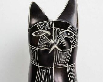 Soapstone Cat Kenya Stone Carving Figurine Home Decor Statue Egyptian