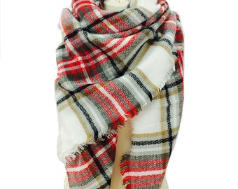 Blanket Scarf, Scarf, Gift For Her