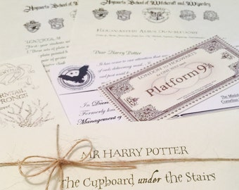 Harry Potter Acceptance letter, FREE personalisation. FREE Wish Bracelet. FREE marauders map
