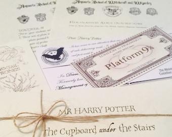 Harry Potter Acceptance letter, FREE personalisation. FREE Wish Bracelet. FREE marauders map