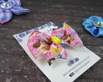 Pinwheel Hair Bow Clip - Princesses