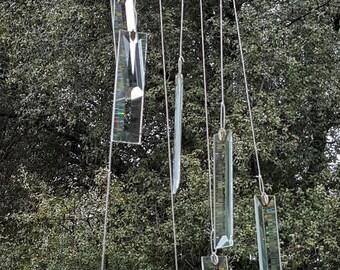 Beveled Glass Windchime