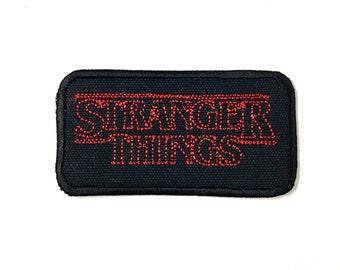 "Stranger Things Logo Patch - 3.75 x 2"""