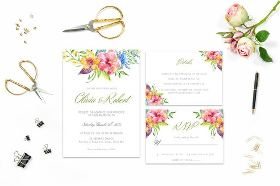 Floral wedding invite word_20,INSTANT DOWNLOAD, Editable Wedding template invitation. Microsoft Word template.Wedding Printable