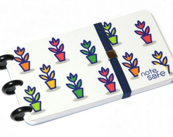"Notebook, ""Note Safe"", Notizblock, Memo, Notepad, Discbound, Handmade (BOT-042)"