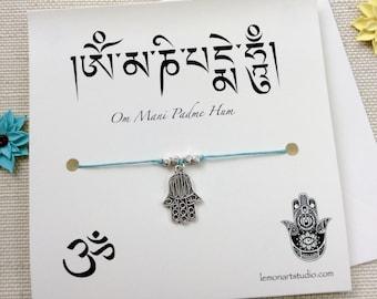 Hamsa Bracelet, Yoga Wish Bracelet, Yoga Gift Women, Yoga Jewelry Women, Hamsa Jewelry, Meditation Bracelet, Silver Hamsa, Hand Of Fatima