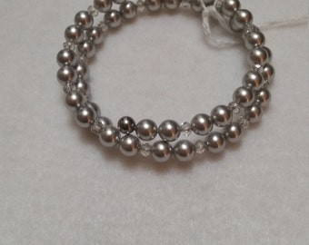 Swarovski pearls and crystal wrap