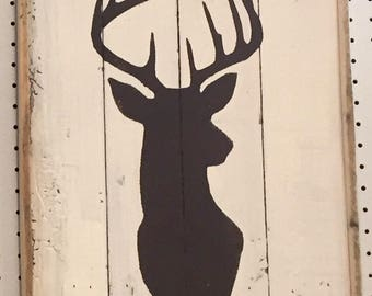 Rustic Deer Art Panel, Rustic Wall Art, Rustic Home Decor, Rustic Art Work, Farmhouse Art, Man Cave Wall Art, Boy's Room Wall Art, Lodge Art