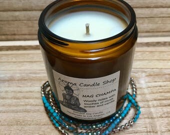 8oz NAG CHAMPA Scented Soy Aroma Candle